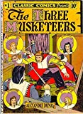 The Three Musketeers - Retro Style Comic Cover Style Large Cotton Tea Towel by Half a Donkey