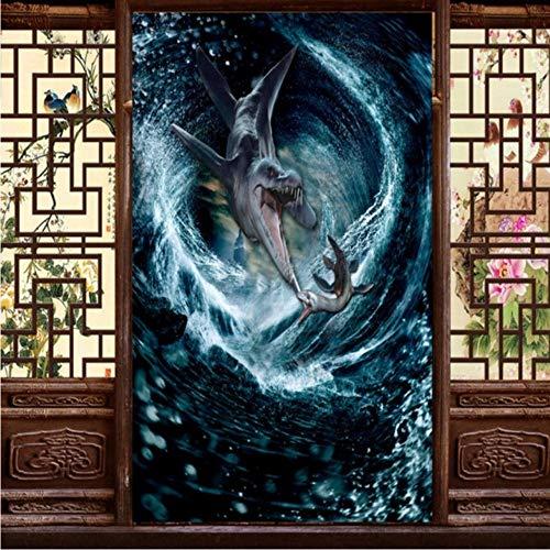 Xbwy Benutzerdefinierte Fototapete Dinosaurier Magie Sea Tornado 3D Wallpaper Hotellobby Restaurant Dekoration Hintergrund Benutzerdefinierte Wandgemälde-150X120Cm - Maniküre Magie