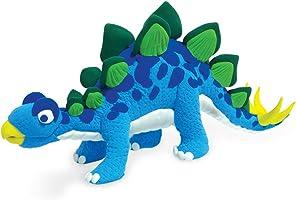 Jumping Clay Kinderknete, C2–3renkli Dinosaur set Stegosaurus