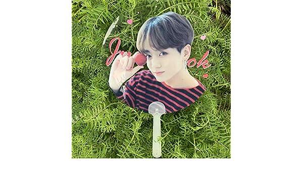 Grapes Garden Kpop BTS Bangtan Boys Eventail Rond Ventilateur /à Main pour BTS Army Transparent Jungkook