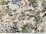 ab 1m: Digitaler Baumwoll-Jersey, Blumen,
