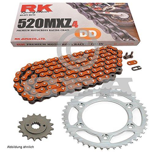 Kit per catena KTM SX-F 250Racing 13-15, catena RK DD 520MXZ4118, aperta, arancione 13/50