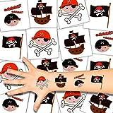 German Trendseller - 72 x Kinder Tattoos - Piraten Set ┃ Neu ┃ Piraten Party ┃ Kindergeburtstag ┃ Mitgebsel ┃ 72 Tattoos