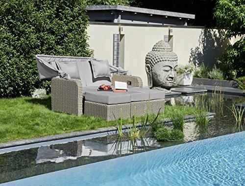 Gartenbett mit dach  greemotion Lounge Orlando braun/grau, inkl. Auflagen, Gartenlounge ...