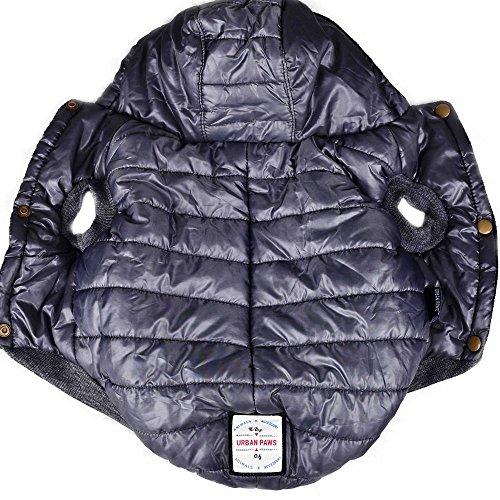 SUPEREX® Baumwollejacke Pet Coat Jacket Costüm Hundemantel Hundepullover Winterjacke Dog Vest für Welpen Hund, Herbst Weste, Winter Vest Warm Padded Hooded Haustier hoody Kleidung Hundebekleidung Hundejacke (Grau,L) (Achten Sie bitte auf die Größe)