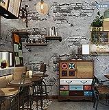 Vlies Tapete Wandtapete Brick Brick Brick Brick Brick Brick Brick Brick Wall Grauzement Mauer Industrial Wind Antiken Hintergrund Wand Tapeten, 0,53 X 10 M, Ein