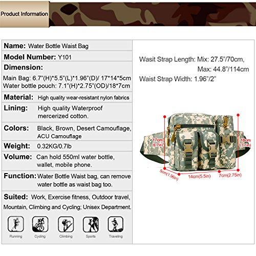Imagen de huntvp bolso de cintura  táctical bolso de cintura bolsa riñonera bandolera cinturón estilo militar bolso de múltiple función riñoneras para herramientas  ejércita bolso impermeable para correr, senderismo, ciclismo,camping, caza, etc, color alternativa