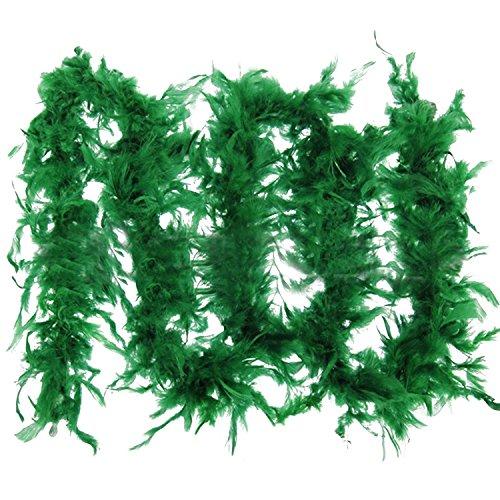Vococal® Flauschige Federboa Kostüm Hochzeitsgesellschaft Weihnachten Decoration, Grün