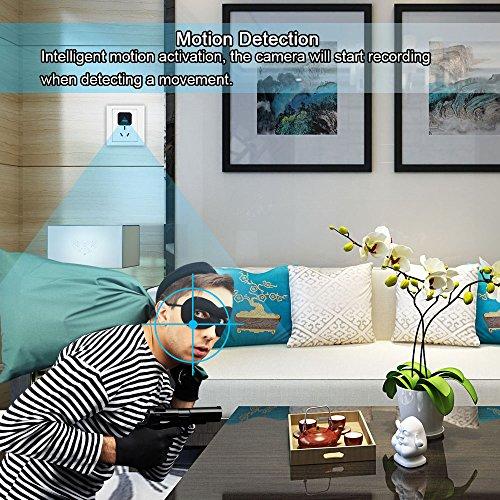 Telecamera Nascosta, UYIKOO 1080P Mini Telecamera Spia USB Caricatore da Parete Adattatore per Videocamera Fotocamera portatile con Rilevazione di Movimento, Fotocamera da 32 GB di Memoria Incorporata - 7