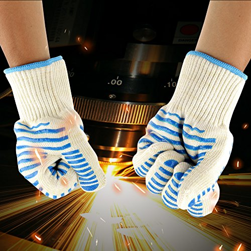 615pdapvkrL - 1pair / set Küche Handschutz Kochherd Outdoor BBQ Hitzebeständige Grill Heatproof Handschuhe Grillen Zubehör Home Kitchen Tools zum Kochen, Grillen, Backen