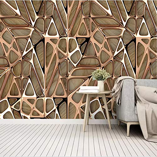 Foto Wallpaper 3D Art Stile metallico Motivo geometrico Murale Soggiorno Camera da letto Home Decor Pittura astratta parete 3D può essere personalizzato,350x245cm