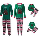 Glaiidy Conjunto De Navidad Ropa De Bebé para Niños Suéter Pijamas Familiares Ropa De Dormir Conjuntos A Juego Conjunto Pijam