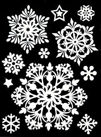 Weihnachts-Fensterdeko Schneeflocken Schnee-Fenster-Bilder Weihnachten 11 Stk.