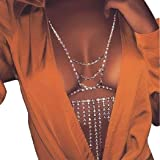 Sethain Moda Catena del corpo Strass Argento Catene di tassel Reggiseno Night Club Bikini Accessori per il corpo Gioielli per