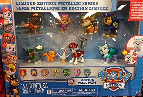 Spin Master Paw Patrol Limited Edition Metallic Series Action Pup