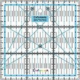 Regla giratoria para Quilting, Patchwork o manualidades, métrica, cuadrados de 15x 15cm