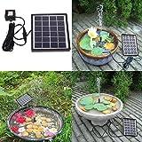Solar Power Water Pump,SOONHUA Solar Panel Kit Water Fountain for Garden Pond Pool Birdbath Outdoor Decor