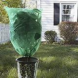 SICL-F kältefeste Pflanzen-Schutzabdeckung, 3 Stück Pflanzen-Abdeckung, Frostschutz-Decke mit Kordelzug, Schutz vor Beschädigungen und schlechtem Wetter – 99,1 x 150 cm