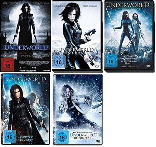 Underworld Teil 1+2+3+4+5 (1-5) [DVD Set] inkl. Blood Wars (Underworld Dvd)