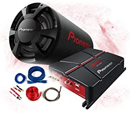 Pioneer Basspaket 2-Kanal Endstufe/Verstärker+30cm Subwoofer+Kabel-Set - 1300W / GM-A3702 - TS-WX306T + REN10KIT
