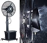 Sichler Haushaltsgeräte Outdoor Ventilator: Professioneller Standventilator VT-761.S, mit Sprühnebelfunktion (Ventilator mit Sprühnebel Outdoor)
