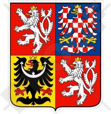 TSCHECHISCHE REPUBLIK Wappen Badge Kamm 100mm Auto & Motorrad Aufkleber, Vinyl Sticker -