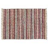 Loberon Teppich Bijan, Jute, Baumwolle, H/B ca. 240/170 cm, bunt, hochwertige Qualität, Vintage-Stil