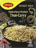Maggi Fertiggericht Magic Asia Thai Curry, im Wok gebratene Nudeln mit gemüse, eine Tüte ergibt 2 Portionen (11x130g)