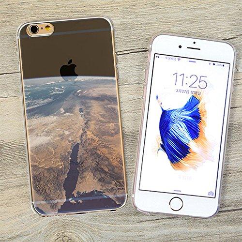iPhone 6S Plus Transparente Case Cover,MingKun Ultra Mince Transparente TPU Bumper iPhone 6 Plus 5.5 pouces Soft TPU Silicone Clair Transparente Case Cover pour iPhone 6 Plus Clair Étui Housse Ananas  paysage-4