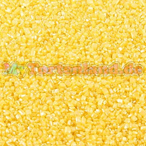 Mytortenland Dragierte Zuckerkristalle Gelb 1-4 mm 50g