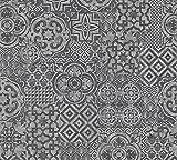 A.S. Création Vliestapete Porto Tapete Ethno Look 10,05 m x 0,53 m grau schwarz Made in Germany 341457 34145-7