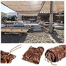 Filet de Camouflage 3x4m, 5x5m Maille de Camouflage Militaire Renforcer Filet Pare-soleil pour Jardin Filet d Ombrage Pergola Tissu Oxford Housse de Camouflage Convient pour Camping de Chasse Caché