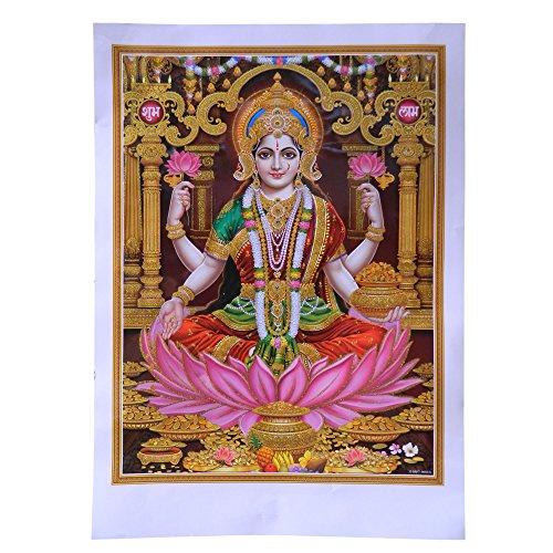 bild-lakshmi-50-x-70-cm-gottheit-hinduismus-kunstdruck-plakat-poster-glitzerfarbe-religion-spiritual