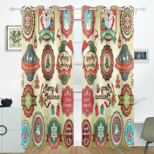 hten Etiketten Abzeichen und Symbole Blackout Vorhänge Verdunkelung thermische isoliert Polyester Tülle Oben Blind Vorhang für Schlafzimmer, Wohnzimmer, 2 Panel (55 x 84 l Zoll) ()