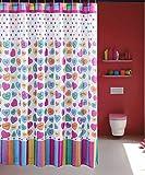 Unbekannt Kreative Liebe Herz Duschvorhänge Wasserdicht Mehltau Proof Weiche und Haltbare Dekoration Badezimmer Vorhänge 180 * 180 cm