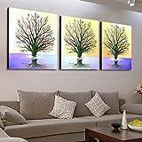 SCD Sala de Estar Moderna Simple Pastoral Paisaje Pared Pintura Oficina Pintura Triple Cristal Casa Decoración Pintura,6,60 * 60CM