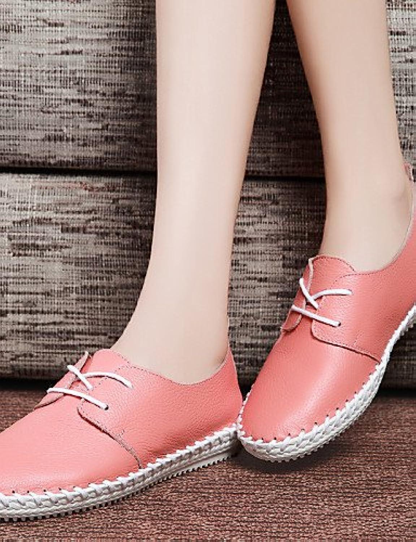 ZQ 2016 Zapatos de mujer - Tacón Plano - Comfort - Oxfords - Oficina y Trabajo / Vestido / Casual - Cuero - Rosa...