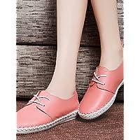 ZQ 2016 Zapatos de mujer - Tacón Cuña - Comfort / Puntiagudos - Oxfords - Casual - Semicuero - Negro / Rosa / Rojo / Beige , pink-us8.5 / eu39 / uk6.5 / cn40 , pink-us8.5 / eu39 / uk6.5 / cn40
