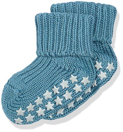 FALKE Unisex Baby Socken Cotton Catspads, Blau (Lagoon 7912), 74 (Herstellergröße: 74-80)