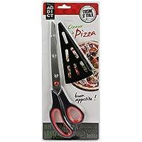 Easy Make KD3138 Ciseaux à Pizza Rouge/Vert 27,4 x 7,7 x 1,5 cm *Coloris Aléatoire*
