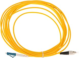 5 Meters Single Mode Simplex Fiber Optic Drop Wire Cables FC-LC Yellow