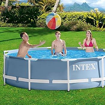 Intex - 56996Fr - Piscine - Kit Piscine Metal Frame 3,66 X 0,76 M - Tubulaire Métal Ronde - Épurateur À Cartouche 2M3/H Inclus