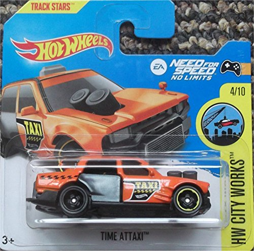 Hot Wheels 2017 HW City Works EA Need For Speed Time Attaxi Orange 168/365 (Short Card)