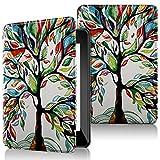 QITAYO Funda para Kindle Paperwhite 2018 Generación 10, Carcasa Nueva de Cuero Sintético Antigolpes & Ligera & Impermeable con Cierre de Imán (Love-Tree)