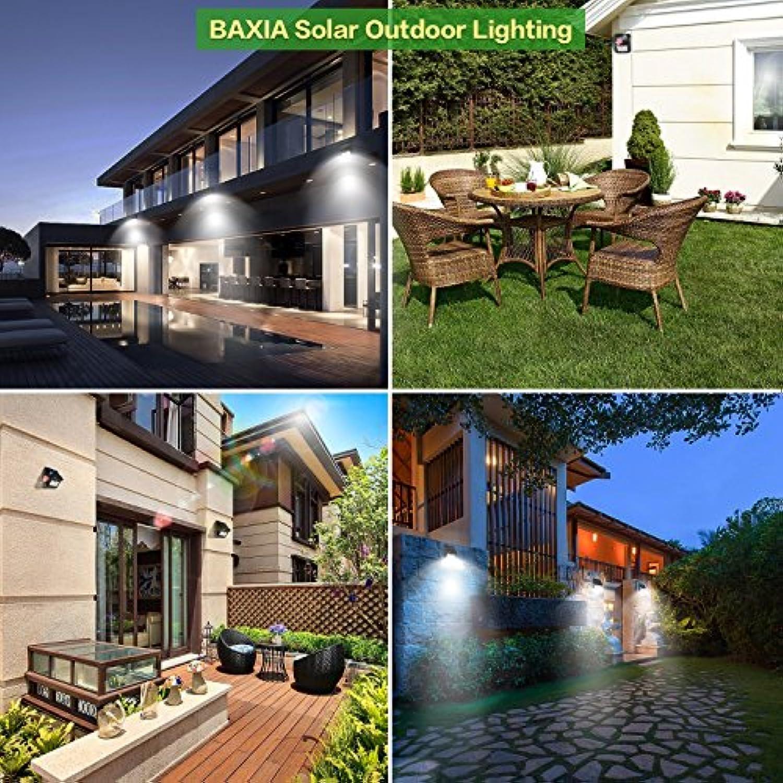 Terrasse Lampe Solaire Exterieur BAXiA 28LED Eclairage ...