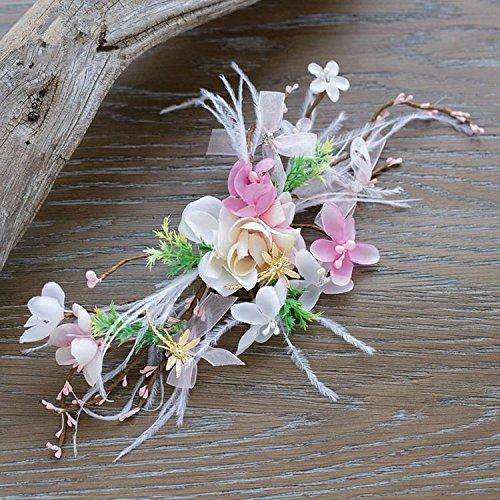 DuZiShi-fs Capelli da sposa, dolci, intelligente, fiori, piume, capelli clip a farfalla, libellula accessori per capelli, accessori capelli sposa