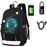 Aokay USB Schulrucksack Schulranzen Schultasche Sports Rucksack Freizeitrucksack Daypacks Backpack mit dem Schloss für Mädche