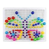 Fajiabao - Juego Pinchos Seta de Clavos Bloques Caja Juguetes Bricolaje Conjunto colorido de champiñón, 3 Años+ (318PCS)