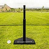 FORTRESS Telescopic Baseball Batting Tee - Adjustable Rubber Batting Tee