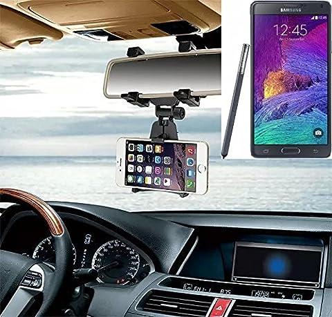 Montage porte-Smartphone rétroviseur pour Samsung Galaxy Note 4, noir | Mirror Holder support de voiture - K-S-Trade (TM)